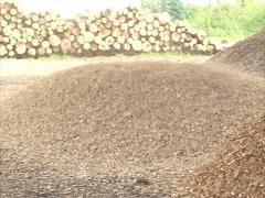 Log granulate equipment Stock Footage