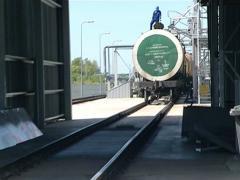 terminal biodiesel load - stock footage