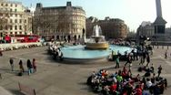 Stock Video Footage of Fountain at Trafalgar Square 2 HD