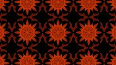 Orange Pattern Background Stock Footage