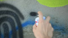 Graffiti art in the making (close up) _2 Stock Footage