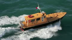 Pilot Boat in Caribbean Waters - stock footage