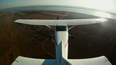 Flight on a private jet, POV 1 - stock footage