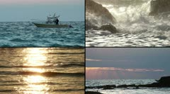 A little fishing boat - stock footage