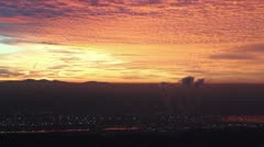 Sunset on Smoggy Day Stock Footage