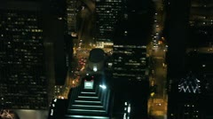 Close Up Aerial View of Major City Stock Footage