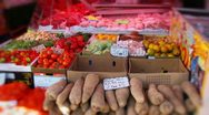 Ethnic market stall Stock Footage