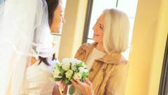 Time Together Bride and Mother Before Wedding Stock Footage