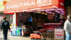 Halal meat shop butcher Stock Footage