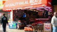 Halal meat shop butcher Stock Footage