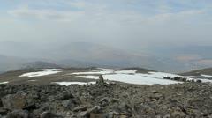 Hikers descending Ben Nevis Scotland Stock Footage