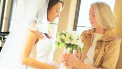 Time Together Bride and Mother Before Wedding - stock footage