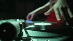 DJ Scratching Stock Footage