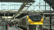 Stock Video Footage of People boarding the Eurostar Train