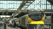 Stock Video Footage of Time Lapse of anonymous people boarding the Eurostar train