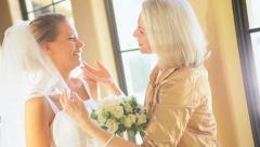Bride and Grandmother Time Before Wedding Stock Footage