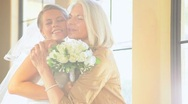 Stock Video Footage of Beautiful Young Bride and Grandmother