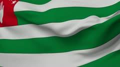 Flag of Abkazia - stock footage