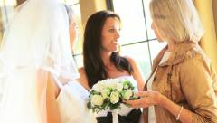 Three Generations Female Family Wedding day Stock Footage