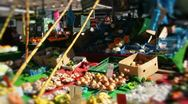 Caribbean food stall at market Stock Footage