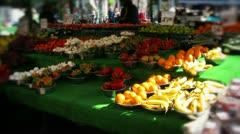 Fresh produce at market Stock Footage