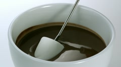 Marshmallow with chocolate, Slow Motion - stock footage
