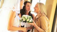 Young Bride with Mother and Grandmother Stock Footage