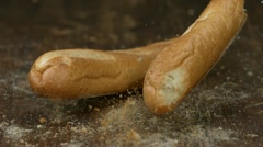 Baguette, Slow Motion Stock Footage