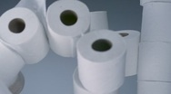 Toilet paper roll, Slow Motion Stock Footage