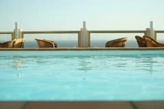 Luxury Hotel pool NTSC Stock Footage