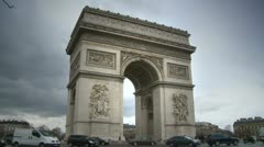 Arch of Triomphe Stock Footage