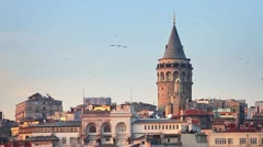 Galata Tower - stock footage