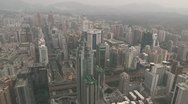 Shenzhen from above Stock Footage