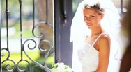 Stock Video Footage of Young Wedding Day Bride Flower Girl