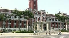 Presidential Office, Taipei, Taiwan Stock Footage