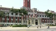 Stock Video Footage of Presidential Office, Taipei, Taiwan