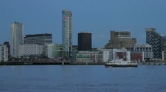 Mersey Ferry, Liverpool waterfront Stock Footage