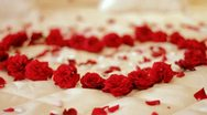 Heart of roses Stock Footage