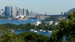 Sydney harbour time lapse Stock Footage