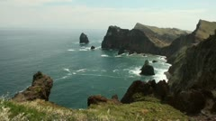 Madeira coastline and cliffs 20110427 114238 Stock Footage