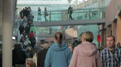 Shoppers at Liverpool One shopping centre Stock Footage