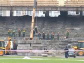 Reconstruction of the stadium 2 PAL Stock Footage