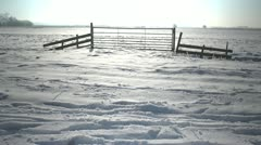Dutch winter-snowscape-22.MOV Stock Footage