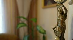 Figural Pendulum Clock Stock Footage