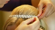 Bride Hairstyle Stock Footage