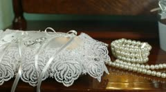DOLLY: Bridal Accessories - stock footage