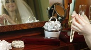 DOLLY: Wedding Accessories For The Bride Stock Footage