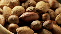 Mixed nuts Stock Footage