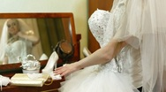 DOLLY:  Wedding Dress Stock Footage