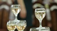 Champagne Reception Stock Footage